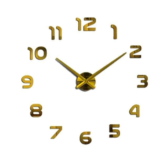 YourWorldShop gold / 47inch 3D Wall Clock 8137120-gold-47inch