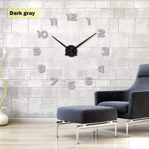 YourWorldShop gray / 47inch 3D Wall Clock 8137120-gray-47inch