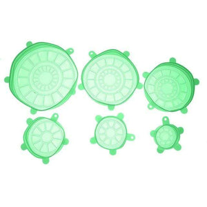 YourWorldShop Green Fresh Food Silicone Cover (6 pcs) 1912435-green