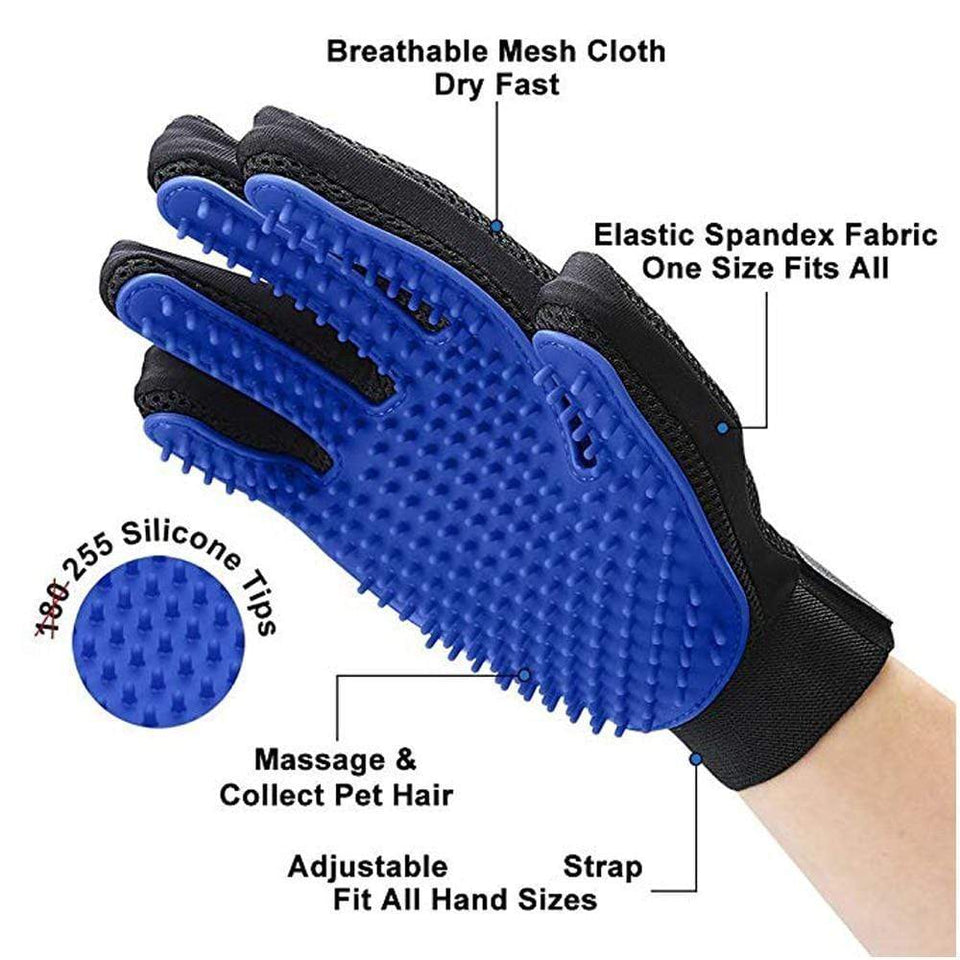 YourWorldShop Left Hand Blue / As Picture Pet Grooming Glove 16501155-left-hand-blue-as-picture