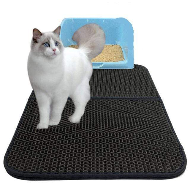 YourWorldShop pet products Black / 55x70cm Foldable Waterproof Pet Litter Mat 14666359-black-55x70cm-foldable