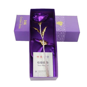 YourWorldShop Purple/box 24K Rose Gold Rose 14535874-z1-united-states