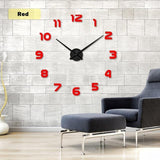 YourWorldShop red / 47inch 3D Wall Clock 8137120-red-47inch