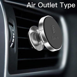 YourWorldShop Silver Air Vent Universal Magnetic Phone Holder 2488009-silver-air-vent