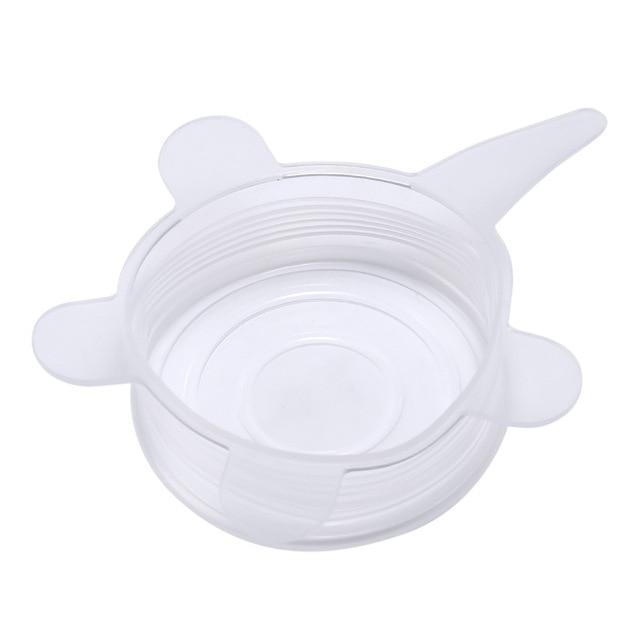 YourWorldShop White - 6PCS Fresh Food Silicone Cover (6 pcs) 1912435-white-6pcs