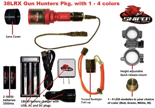 38LRX Gun hunters package with 1 - 4 colors
