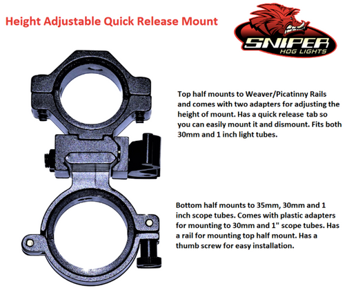 Height Adjustable Quick release mount