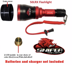 50LRX Flashlight with 1-4 colors