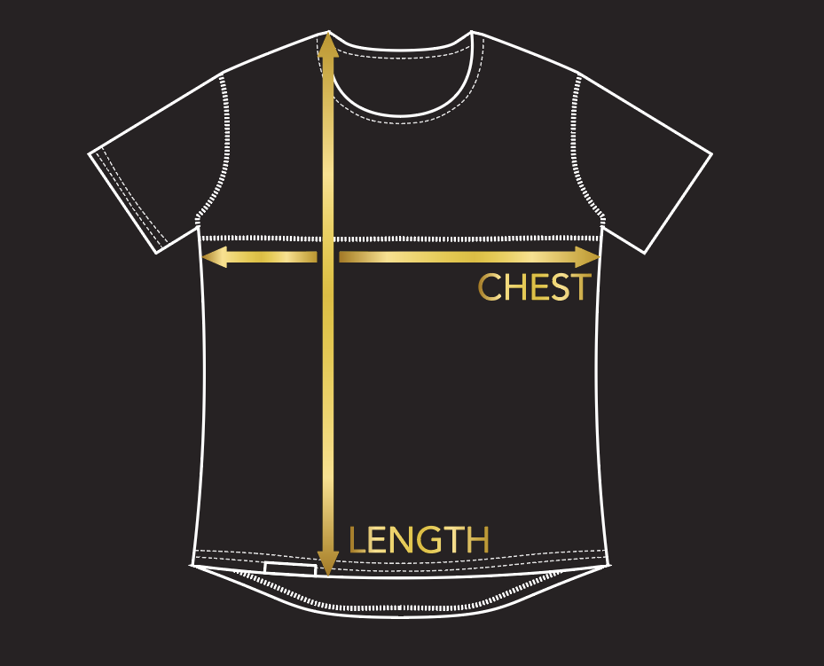 Short sleeve jersey size guide