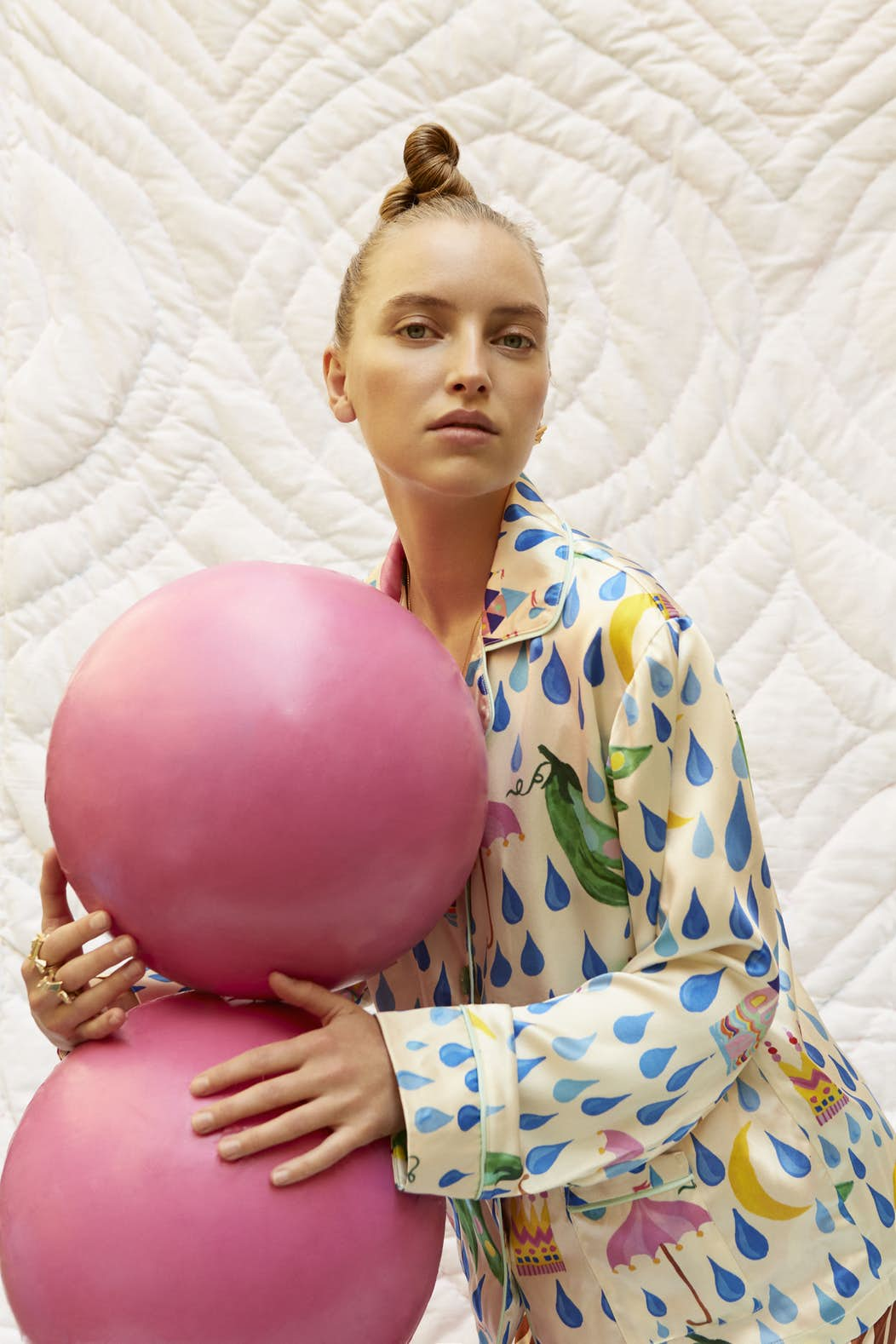 Emilie Helmstedt in H.C. Andersen silk shirt and pants