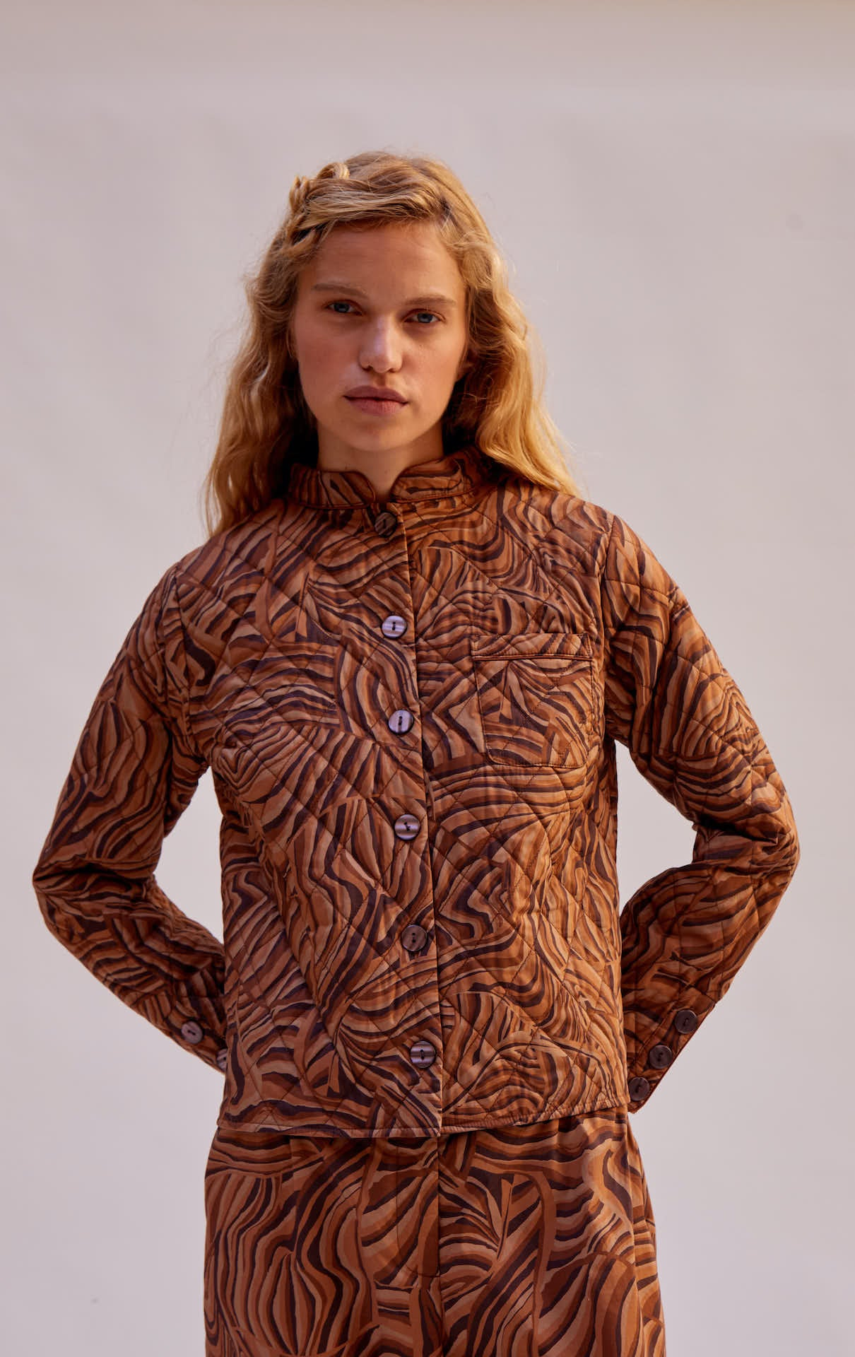 Quilted Shirt - Chocolate