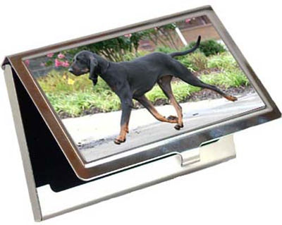 Black & Tan Coonhound Card Case