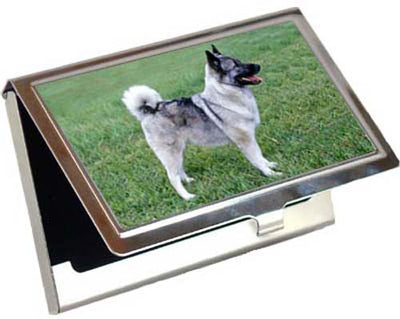 Norwegian Elkhound Card Case