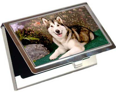 Siberian Husky Card Case