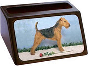 Airedale Terrier Business Card Holder