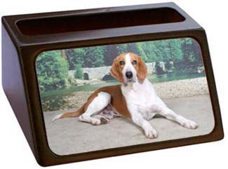 American Foxhound Business Card Holder