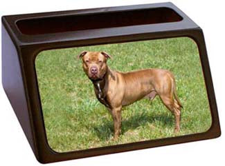 American Pitbull Business Card Holder