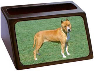 American Staffordshire Terrier Business Card Holder