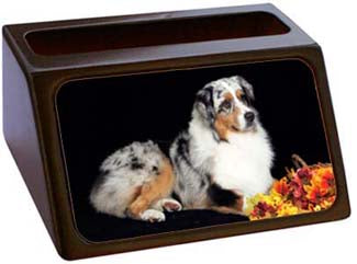 Australian Shepherd Business Card Holder