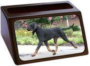 Black & Tan Coonhound Business Card Holder