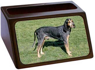 Blue Tick Coonhound Business Card Holder