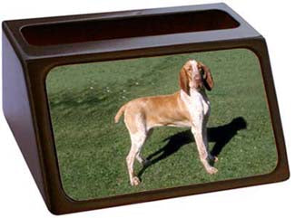 Bracco Italiano Business Card Holder