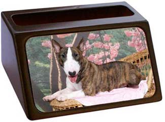 Bull Terrier Business Card Holder