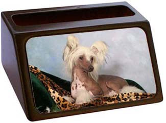 Chinese Crested Business Card Holder