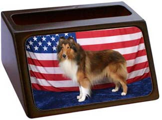 Collie Rough Business Card Holder