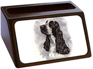English Cocker Spaniel Business Card Holder
