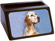 English Setter Business Card Holder