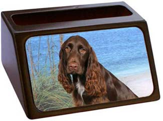 Field Spaniel Business Card Holder