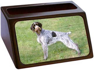 German Wirehair Pointer Business Card Holder