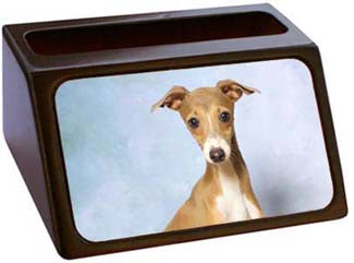 Italalian Greyhound Business Card Holder