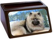 Keeshond Business Card Holder