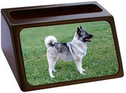 Norwegian Elkhound Business Card Holder