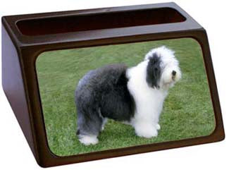Old English Sheepdog Business Card Holder