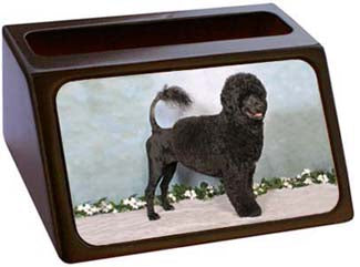 Portugese Water Dog Business Card Holder