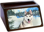 Siberian Husky Business Card Holder
