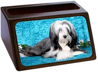 Tibetan Terrier Business Card Holder