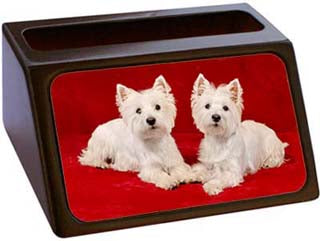 West Highland White Terrier Business Card Holder