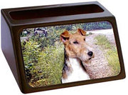 Wire Fox Terrier Business Card Holder
