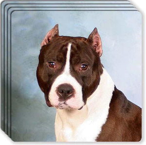 American Staffordshire Terrier Rubber Coaster Set