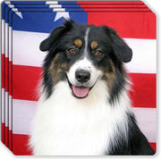 Australian Shepherd Rubber Coaster Set