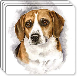 Beagle Rubber Coaster Set