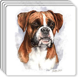 Boxer Rubber Coaster Set