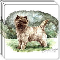 Cairn Terrier Rubber Coaster Set