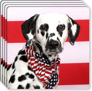 Dalmatian Rubber Coaster Set