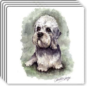 Dandie Dinmont Rubber Coaster Set