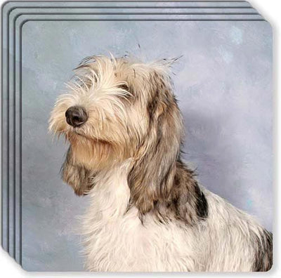 Grand Basset Griffon Vendeen Rubber Coaster Set